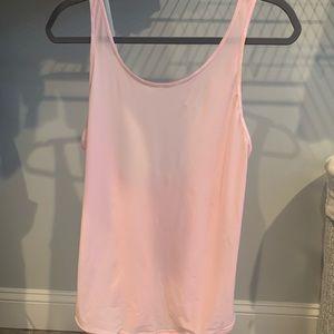 EUC Lululemon Let It Slip Tank Size 4 Pearl Pink